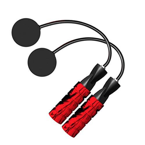 Vokmon Saltar la Cuerda sin Cuerda Ajustable Teniendo balón más Ligero Saltar la Cuerda para el Entrenamiento de Fitness, Negro Bola