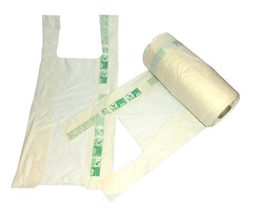 Lot de 200 enveloppes avec manche 22 x 48 cm biodégradable compostable sac Shopper à rouleau sac