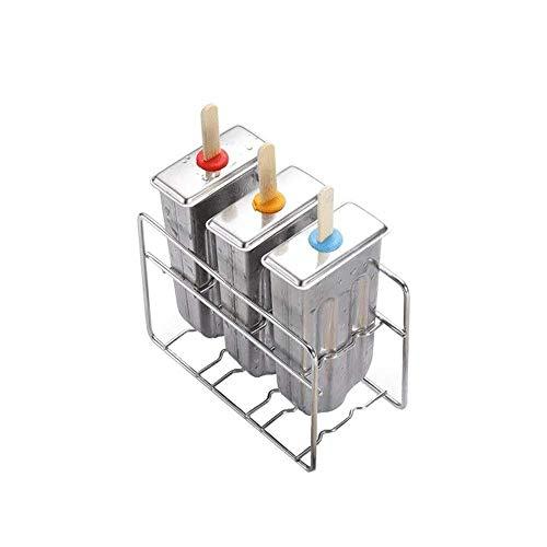 Bandejas de cubitos de hielo con tapa extraíble sin derrame, silicona de fácil liberación, moldes de cubitos de hielo flexibles, apilable duradero, lavavajillas seguro (tamaño: a) jianyou ( Size : A )