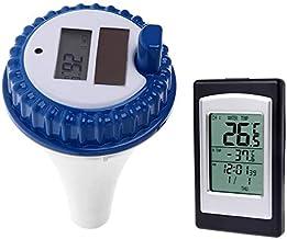 KK Timo Solar Energy Digital Wireless Piscina Termómetro Flotante SPA Metro De La Temperatura con 3 Canales/Hora De La Alarma/Calendario