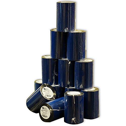 Thermal Transfer Ribbon - Wax 4.33  X 1476  (110mm X 450m) Black 24 Rolls Case (ZEBRA Printer)
