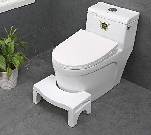 Toiletsquat Taburete para Inodoro | Ayuda Médica para el Inodoro | Mejor Postura al Sentarse en el Inodoro | Ayuda a Subida para Niños | contra Estreñimiento y Hemorroides (Plegable)