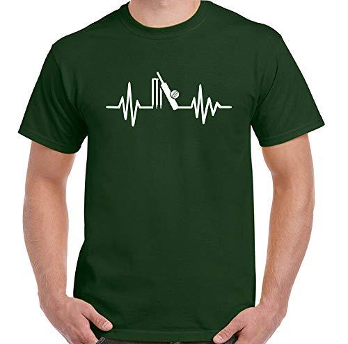 Cricket T-Shirt Giocatore Pulse Uomo Divertente Kit Player Cuore Beat Sfera