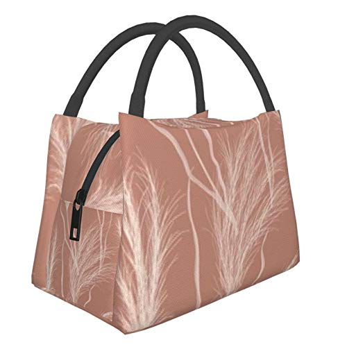 Bolsa de almuerzo portátil con aislamiento fresco (Acuarela floral otoño seco) 8.5L