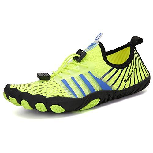 Yvonnelee Zapatos acuáticos de malla transpirables y antideslizantes, de secado rápido, para el tiempo libre, ligeros, deportivos, 1139