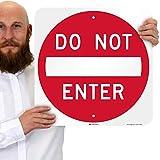 SmartSign - K-1307-EG-18x18-DNE 'Do Not Enter' Sign | 18' x 18' 3M Engineer Grade Reflective Aluminum