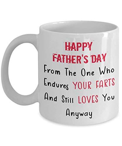 N\A Feliz día del Padre de Aquel Que soporta Tus Pedos y aún te ama de Todos Modos Taza de café - Taza Divertida del día del Padre - Regalo Divertido para Padre/papá Taza