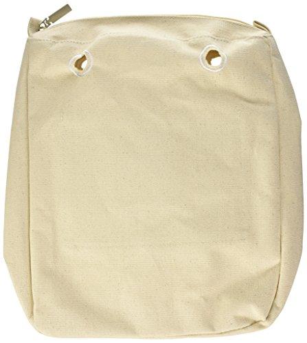 O bag Damen Sacca Chic Handtasche, Elfenbein (Naturale), 29 x 33 x 10.5 cm