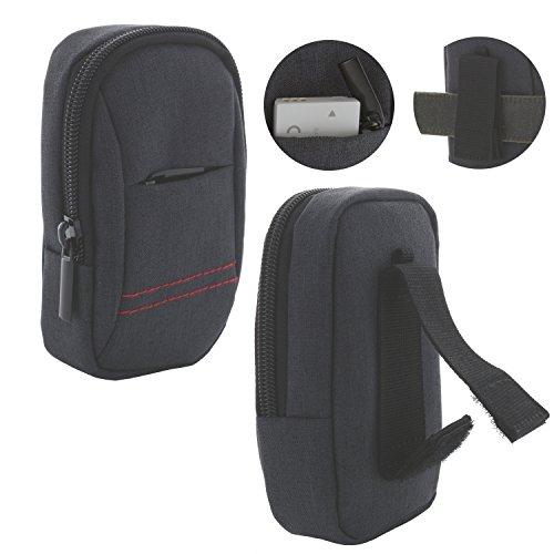 Kameratasche für Digitalkamera mit Trageschlaufe M 3.0 Tasche passend für Canon PowerShot SX720 / Panasonic Lumix TZ58 / Sony DSC HX90 - grau