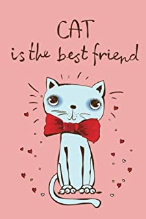 Cat is the best Friend (Journal, Diary, Notebook for Cat Lover): Cute, Kawaii Journal Book with Coloring Pages Inside Gifts for Men/Women/Teens/Seniors