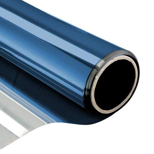 QZXCD raamfolie, breedte 60, 70, 80, 90 cm, lengte 400 cm, eenzijdige folie voor reflecterende ramen, privacy, zelfklevend van glas, hittebescherming, UV-bescherming 80 x 400 cm E