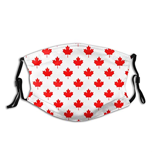 XWJZXS Canada Country Flag Symbol Maple Leaf SRC Dust Washable Reusable Filter and Reusable Mouth Warm Windproof Cotton Face