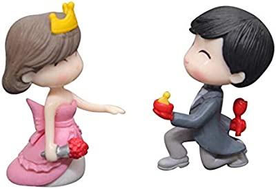 P S Retail Sweety Lovers Couple Figurines Miniatures Style 7 (2 Pcs Set)