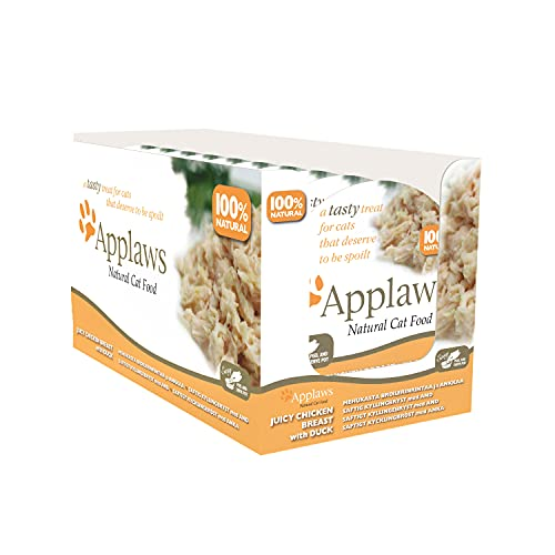 Applaws 100% Natural Wet Cat Food, Chicken Breast with Duck in Broth Pot, 60g (Pack of 10)