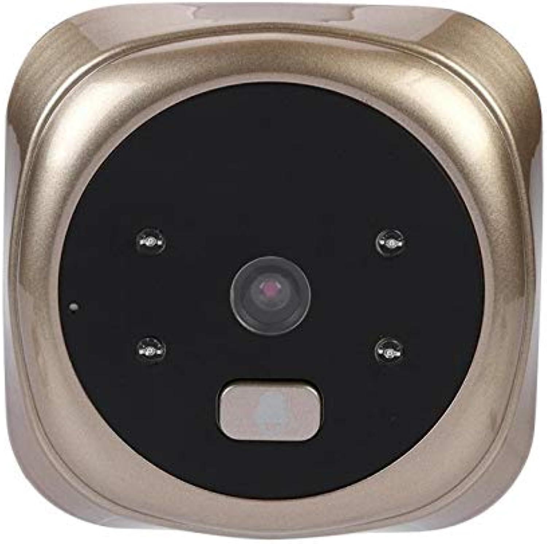 Daqin 2.4 Inch HD Screen LCD Display Home Smart Doorbell Security Door Peephole Camera Electronic Cat Eye Support Photo Video