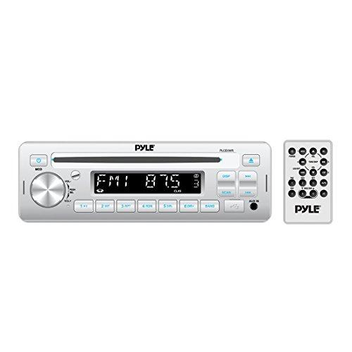 Pyle Stereo Radio Headunit Receiver, CD Player, USB/MP3 Reader, Aux (3.5mm) Input, AM/FM Radio, Single DIN (PLCD3MR)
