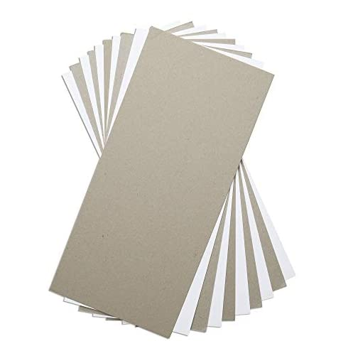 Sizzix Surfacez , Mixed Media Board, 10 Pack, Multi Colour, White and Gray |