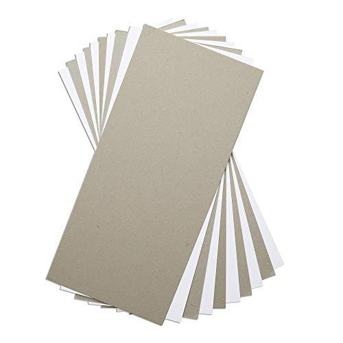 Sizzix Surfacez-Superfici 663891, Cartone Pressato per Mixed Media, 10pz, Multicolore, Bianco e Grigio, Taglia unica