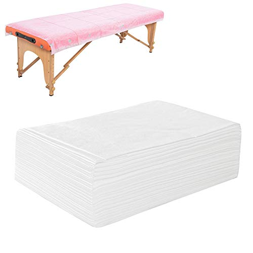 20 PCS Massage Table Sheets Disposable Non Woven SPA Bed Cover Breathable Polypropylene Fabric 31' x 70' Thin, Not Waterproof