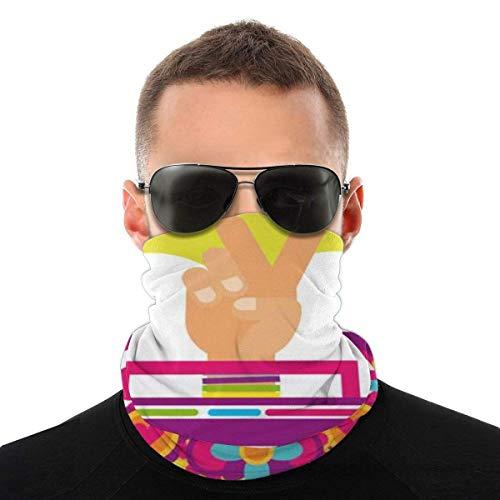 Máscara Facial para Adultos, niños, Radio estéreo, Mano, Amor, Flores, Hippie, espíritu Libre, Bufanda bucal, Bufanda Facial, Calentador de Cuello, Polaina de Cuello, pasamontañas Transpirable