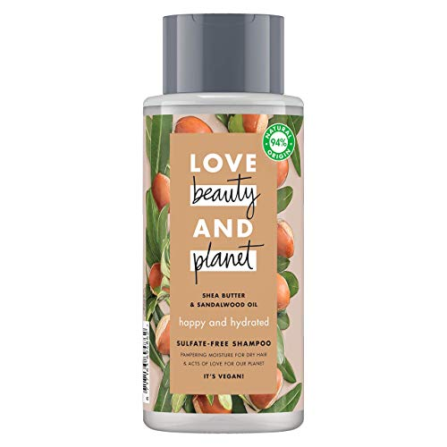 Love Beauty and Planet - Champú manteca de karité y sándalo Happy and Hydrated - 400 ml