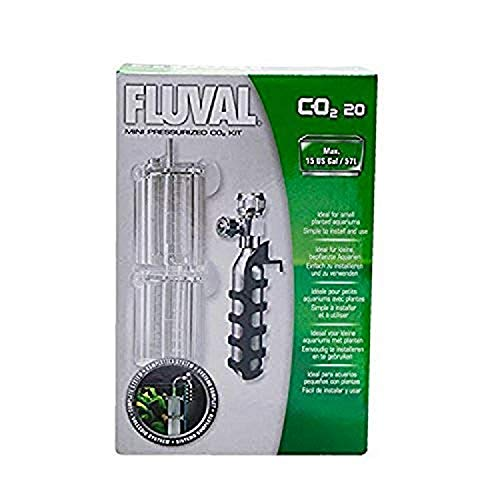 Fluval Mini Pressurized CO2 Kit, CO2 Supplement for Planted Aquariums, 20 grams, A7540