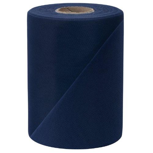 Falk Fabrics Tulle Spool, 6-Inch by 100-Yard, Navy