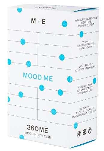 Montgomery Evelyn Mood Me High Strength Multivitamin, Mineral Formula, Vegan Probiotic, Amino Acid, 60 Capsules, 360ME