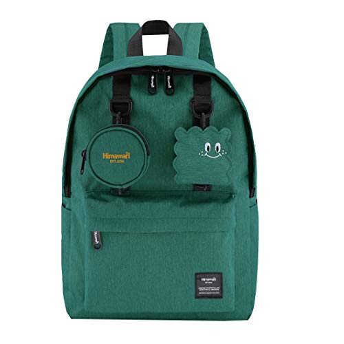Himawari School Travel Backpack with Laptop Compartment, Waterproof Cute 15.6'' Notebook Bag Luggage for Boys Girls Adults, Casual Daypack,Green