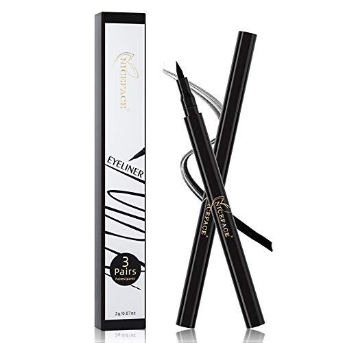 weixinbuy Magic Eyeliner Viscous Eyeliner No Glue No Magnet Quickly Stick False Eyelashes Quick-drying Black Waterproof Eyeliner Self-Adhesive Eyeliner.