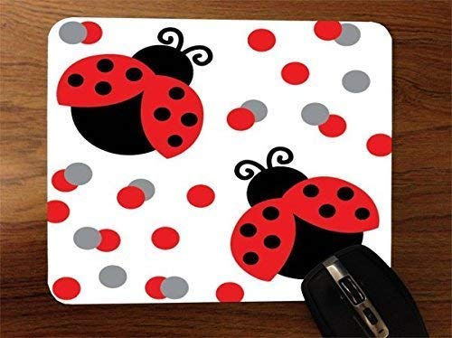 Lady Bugs So Cute Desktop Office SiliconeAlfombrilla de ratón para Gaming by Debbie's Designs
