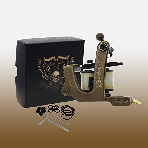 Thomas Coil Tattoo Machine Gun Brass Frame Handmade(Pack of 2) for Liner&Shader