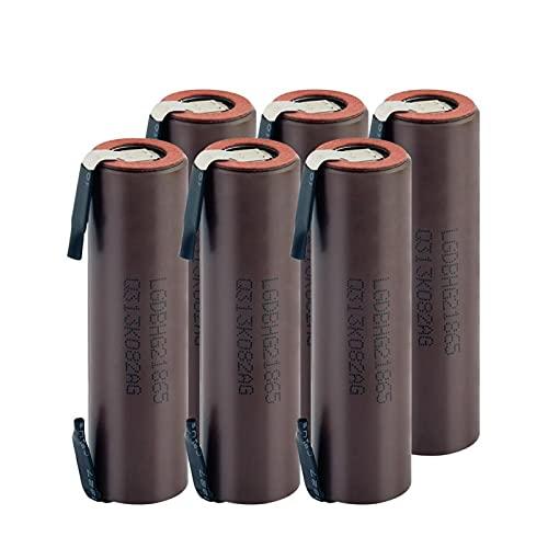 RitzyRose Batería De Iones De Litio De 3.7v 3100mah 18650, BateríAs Recargables con PestañAs De níQuel De Bricolaje De Larga Duración 8pieces