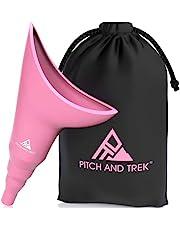 Pitch and Trek® Urinoir voor Vrouwen - Reis-Urineapparaat en Plas-Trechter voor Vrouwen - Discrete Draagtas - Kamperen, Wandelen, Buitenactiviteiten en Meer