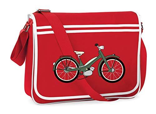 Druckerlebnis24 Schultertasche - Fahrrad...
