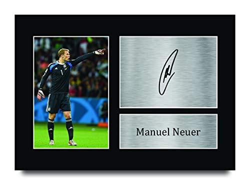 HWC Trading A4 Manuel Neuer Germany Gifts gedrucktes Autogramm Bild für Fans und Fans – A4