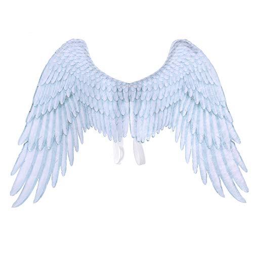 Alas de Hadas, Pluma de impresión 3D Extra Grande Alas de ángel de Hadas de Halloween para niños Alas de ángel Adultas Disfraces Pluma de Hadas para Accesorios de Fiesta (Blanco, Adulto)