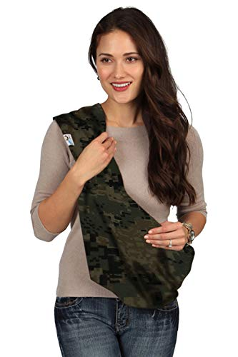 HugaMonkey Camouflage Military Baby Sling Wrap Carrier for Newborn Babies, Infants and Toddlers Upto 3 Years - Dark Green, Small