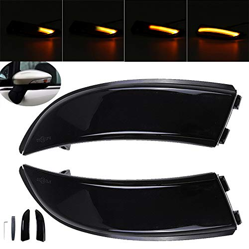 Indicadores de espejo de ala de puerta lateral LED dinámico 2X para F-ord F-iesta MK7 B-max