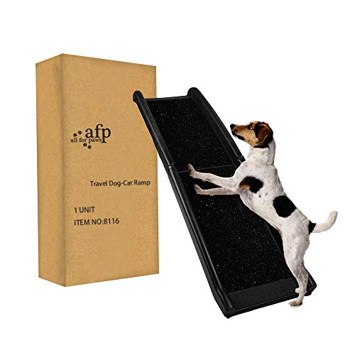 ALL FOR PAWS Pet Ramp Lightweight Portable Dog and Cat Ramp - Great for Cars, Trucks and SUVs - Durable Pet Ramp Supports Over 200 lb