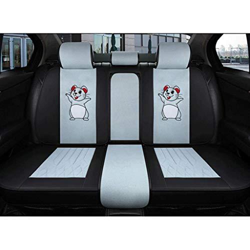Yunchu Auto sitzbezüge Autositzbezüge Leinen Universal-Innensitz Protektoren Fit 5 Sitze Auto bequemen Breathable for BMW 1 3 5 7 Series X1 / X3 / X5 / X6 (Farbe : Blau)