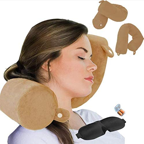 Twist Memory Foam Travel Pillow Neck Chin Shoulder Lumbar and Leg Support for Adult Airplane product image