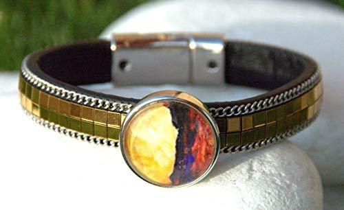 Metallic Leather Bracelet/Snap Jewelry/Noosa Snaps/Snap Charms Bracelet/Snap Buttons Bracelet,/ Snap On Jewelry/Snap Charms Bracelet