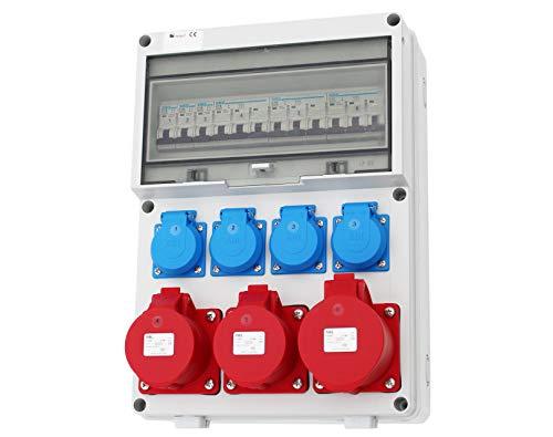 Wandverteiler CEE 16A 32A 230V Stromverteiler Baustromverteiler Verteiler Feuchtraumverteiler WVT1-2
