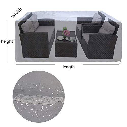 NINGWXQ Garden Tafelafdekking Waterproof Dust-proof Outdoor Sofa Covers Tafels En Stoelen beschermingszeil, Silver, Meerdere Maten (Color : Silver, Size : 70X70X140cm)