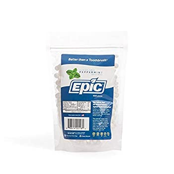 Epic Dental 100% Xylitol Sweetened Breath Mints Peppermint Flavor 1000 Count Bag