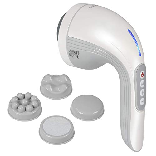 Daiwa Felicity Cellulite Massager - Handheld Cordless Multipurpose Body Massager Cellulite Remover Includes 4 Attachments