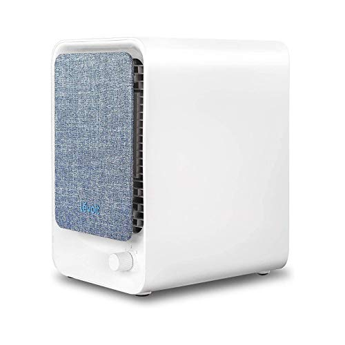 Levoit Air Purifier with True HEPA Filter, Desktop Air Cleaner for Personal Use, Captures Allergies, Bacteria, Dust, Mold, Pollen, Reduces Odors of Smokers, Pet, Chemicals, Three Speeds and Filter Reminder Wheel, 100% Ozone-Free, LV-H126