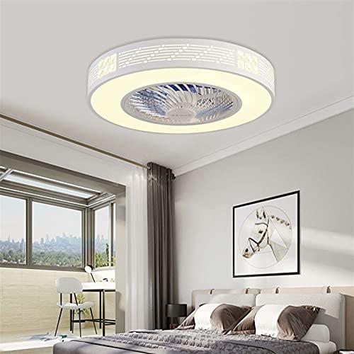Ventilador de luz LED de techo, ventilador creativo de tres colores, ajustable, ultra silencioso, ahorro de energía, decoración de dormitorio, luz de ventilador de techo, regulable 72W