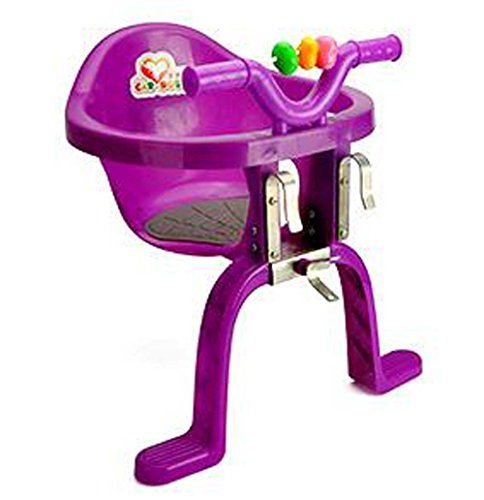 Xihaoer Asiento de Bicicleta Infantil montado en el Frente Sillas Colgantes de plástico Asiento de Bicicleta Infantil para bebé (púrpura)